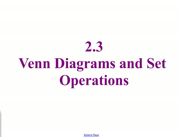 23 Venn Diagrams Set Operations
