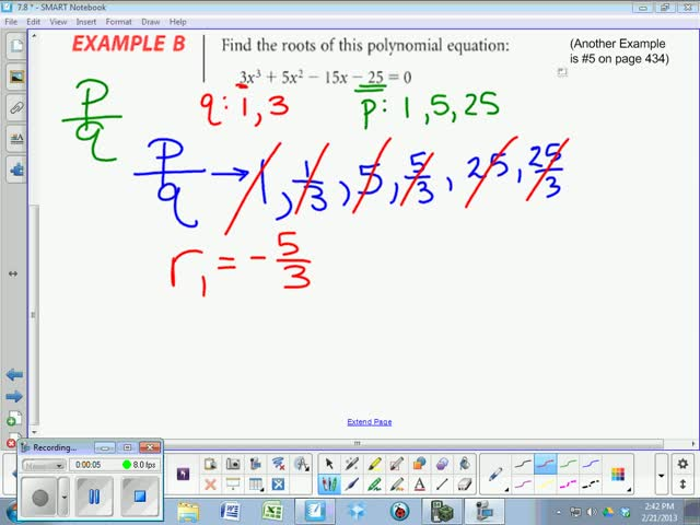 78 Lesson Rational Root Theorem